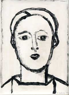 Jeune homme -  Monotype - Contemporary, French Artist Late 20th Century