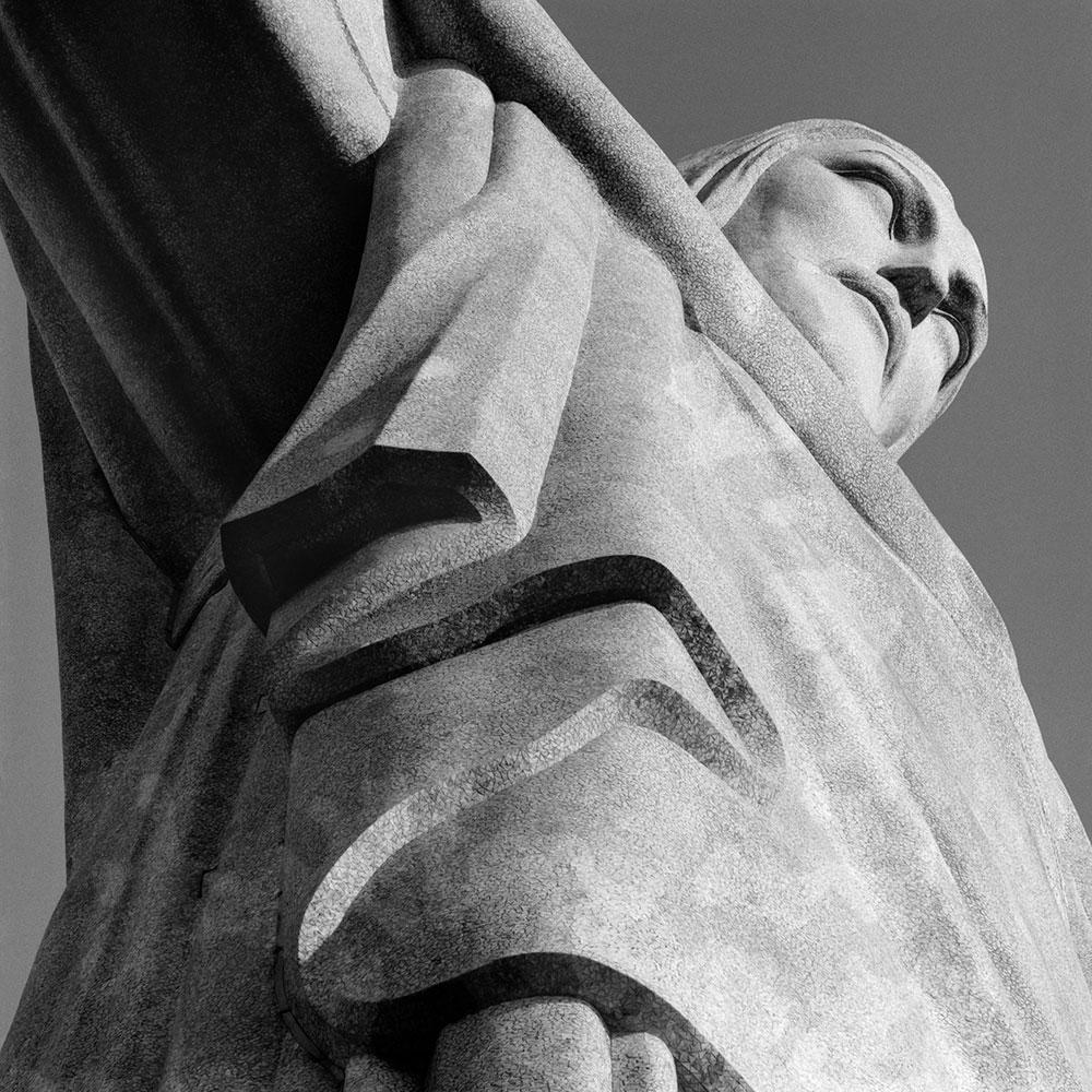 Corcovado, Christ the Redeemer (detail), Rio de Janeiro, Brazil
