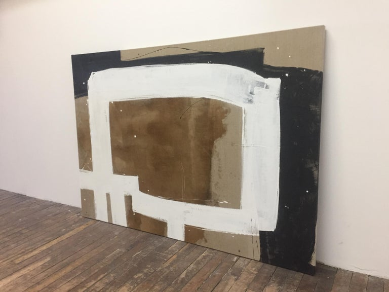 Untitled #11119 - Beige Abstract Painting by Meighan Morrison