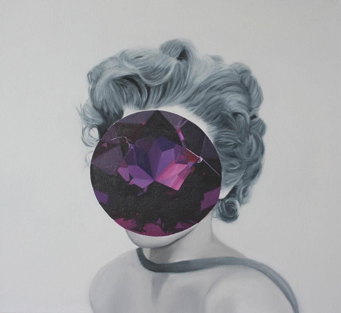 Amethyst from the Mirror Stone series (Portrait Painting - Marilyn Monroe)