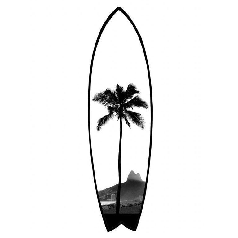 Joaquim Nabuco Black and White Photograph - Surfboard Rio 2 - Rio de Janeiro series