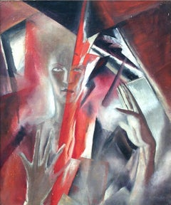 Destruction of thought by Joseph Webb ARE, Semi abstract, surreal, mystic figure