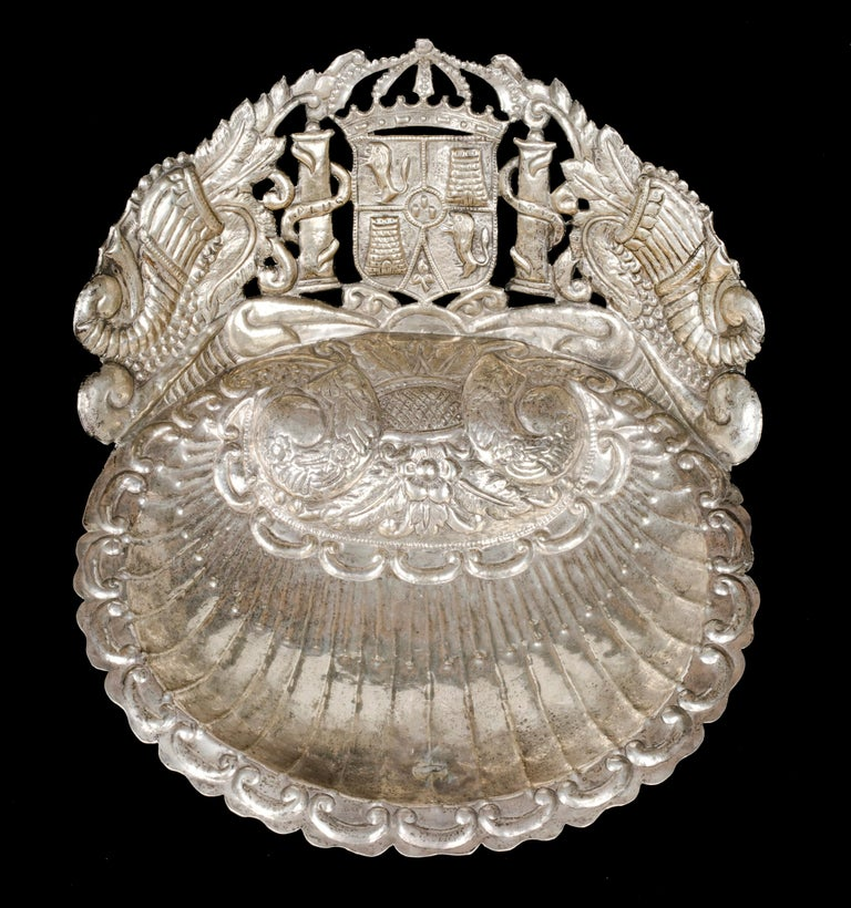 Spanish Colonial Silver Baptismal Dish  - Art by Unknown