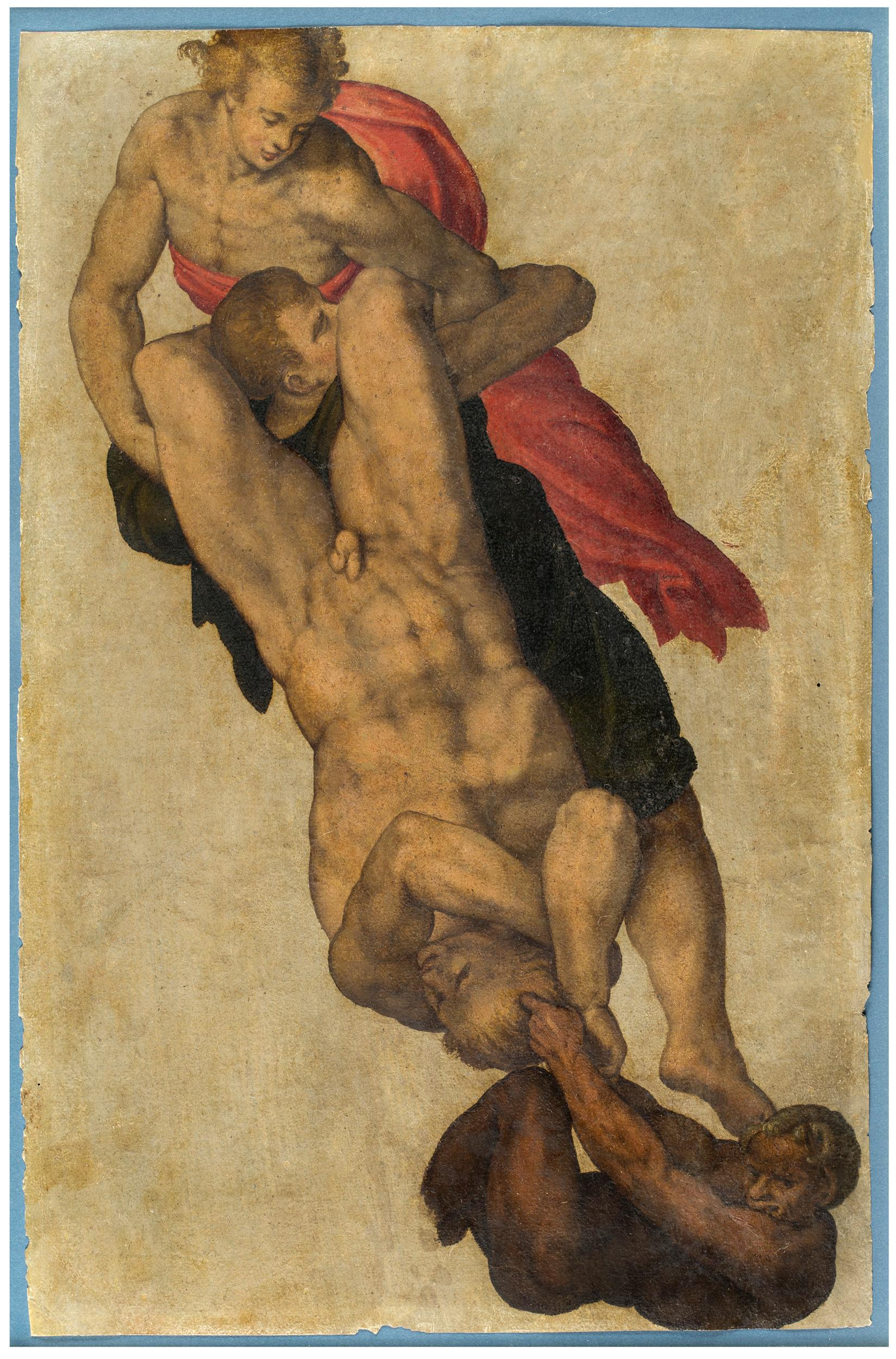 """Study after Michelangelo's """"The Last Judgment"""""""
