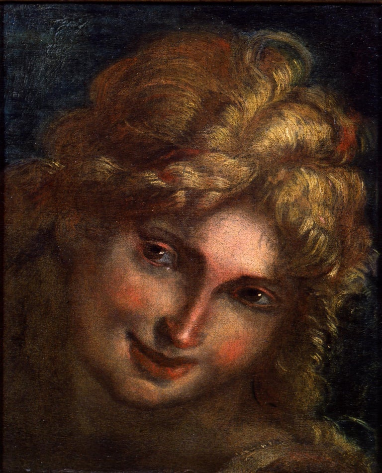 Giulio Cesare Procaccini Portrait Painting - Head of an Angel