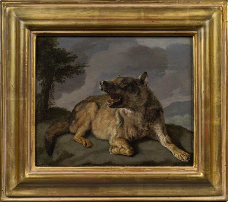 Carl Borromäus Andreas Ruthart Animal Painting - A Wolf