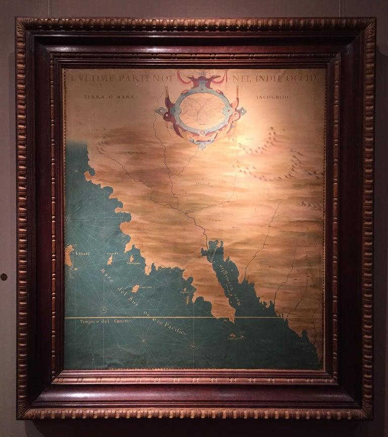 The 1564 Medici Danti map of California, 17th Century