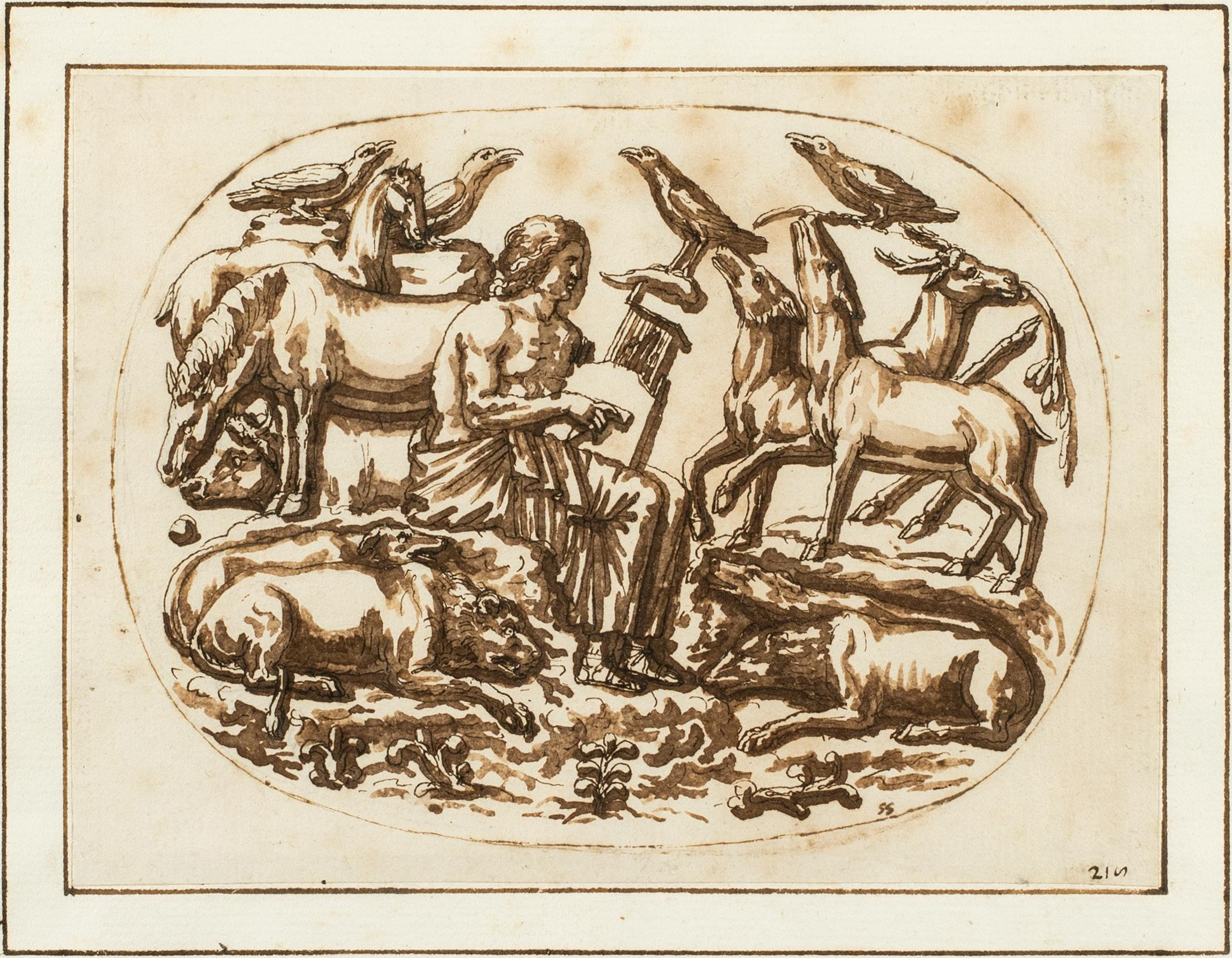 Orpheus and the Animals, A Study after an Ancient Bas-Relief