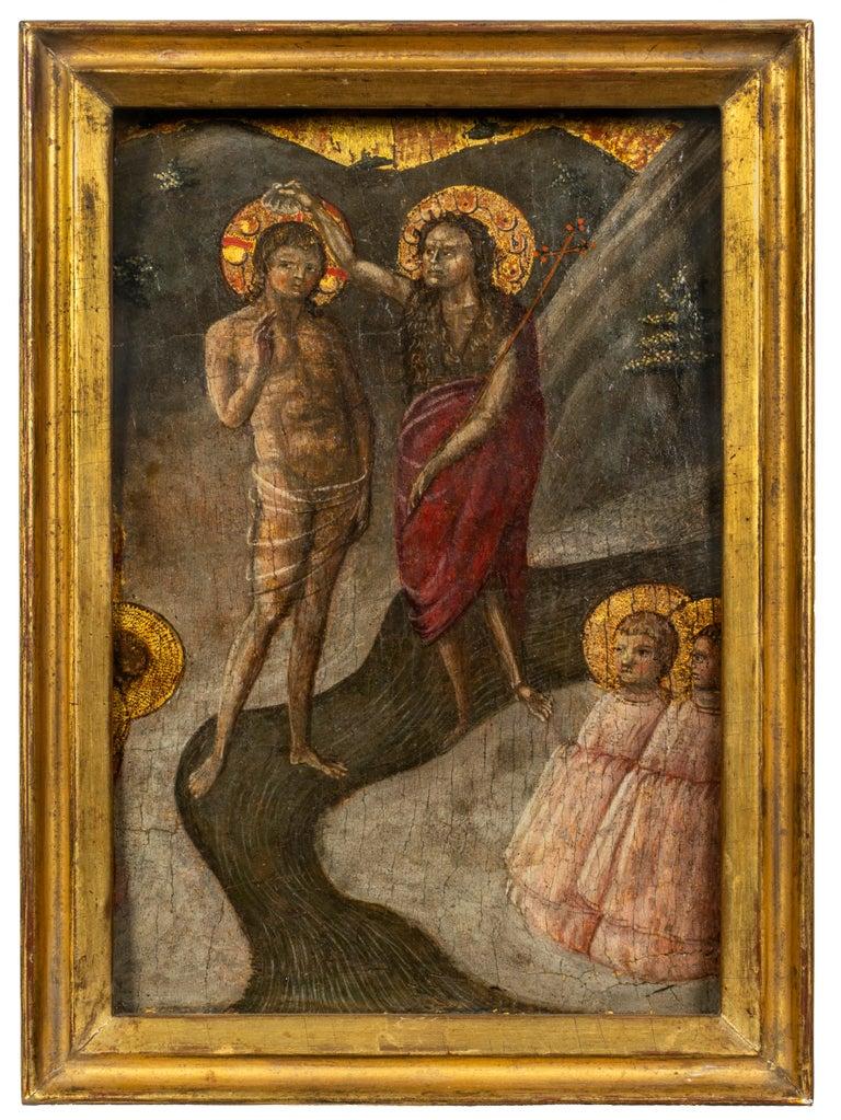 Borghese di Piero Figurative Painting - Baptism of Christ