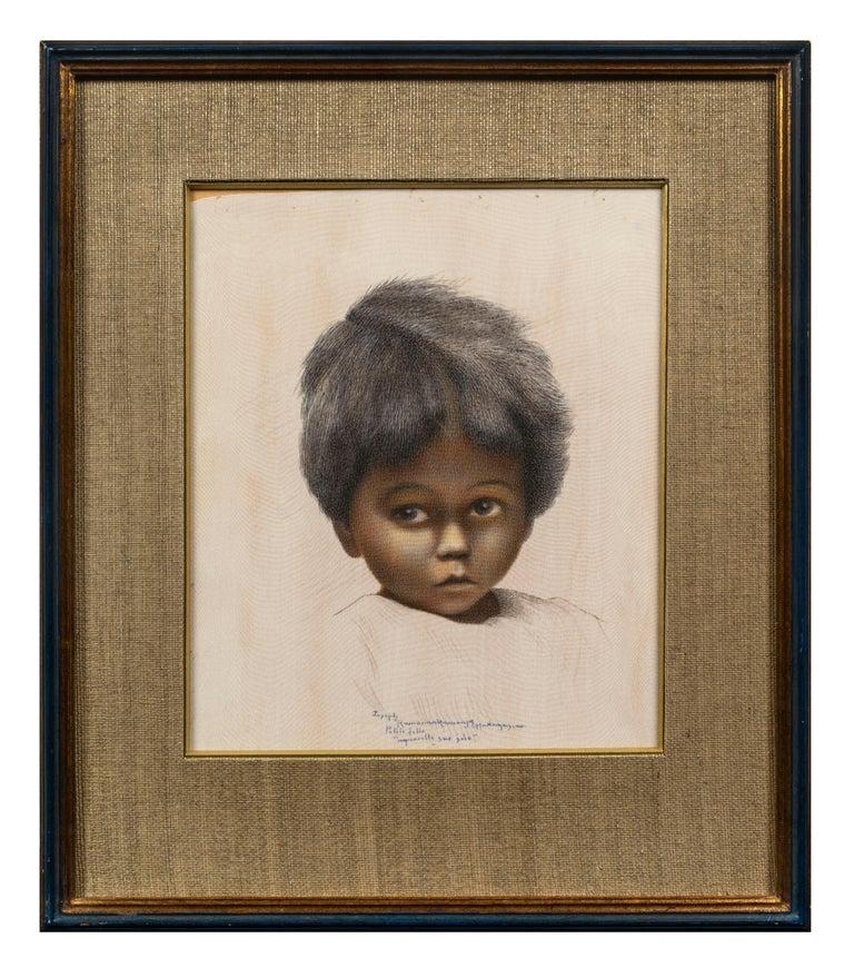 Joseph Ramanankamonjy Figurative Art - Petite Fille