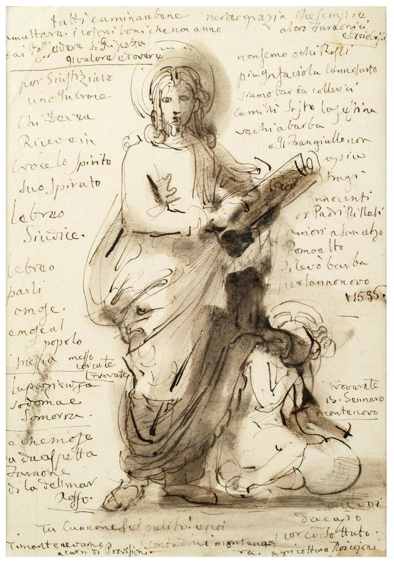 Fortunato Duranti Portrait - A Standing Saint