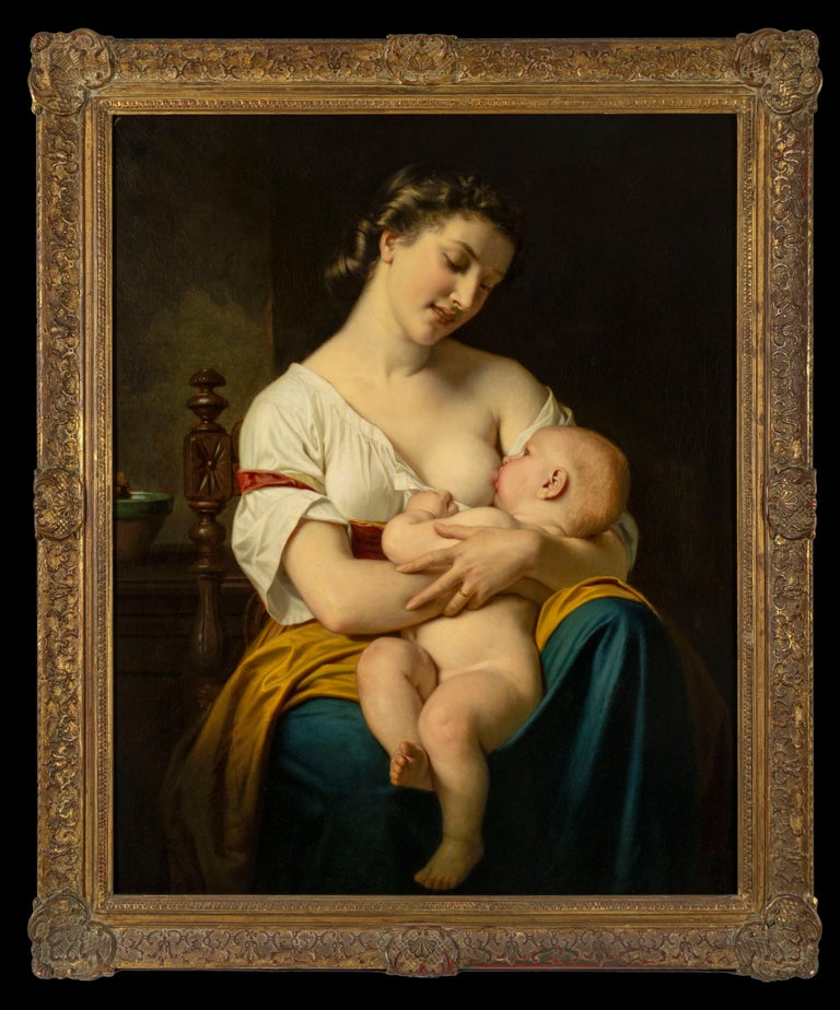 <i>A Young Mother (Une Jeune Mère)</i>, 1865, by Hugues Merle