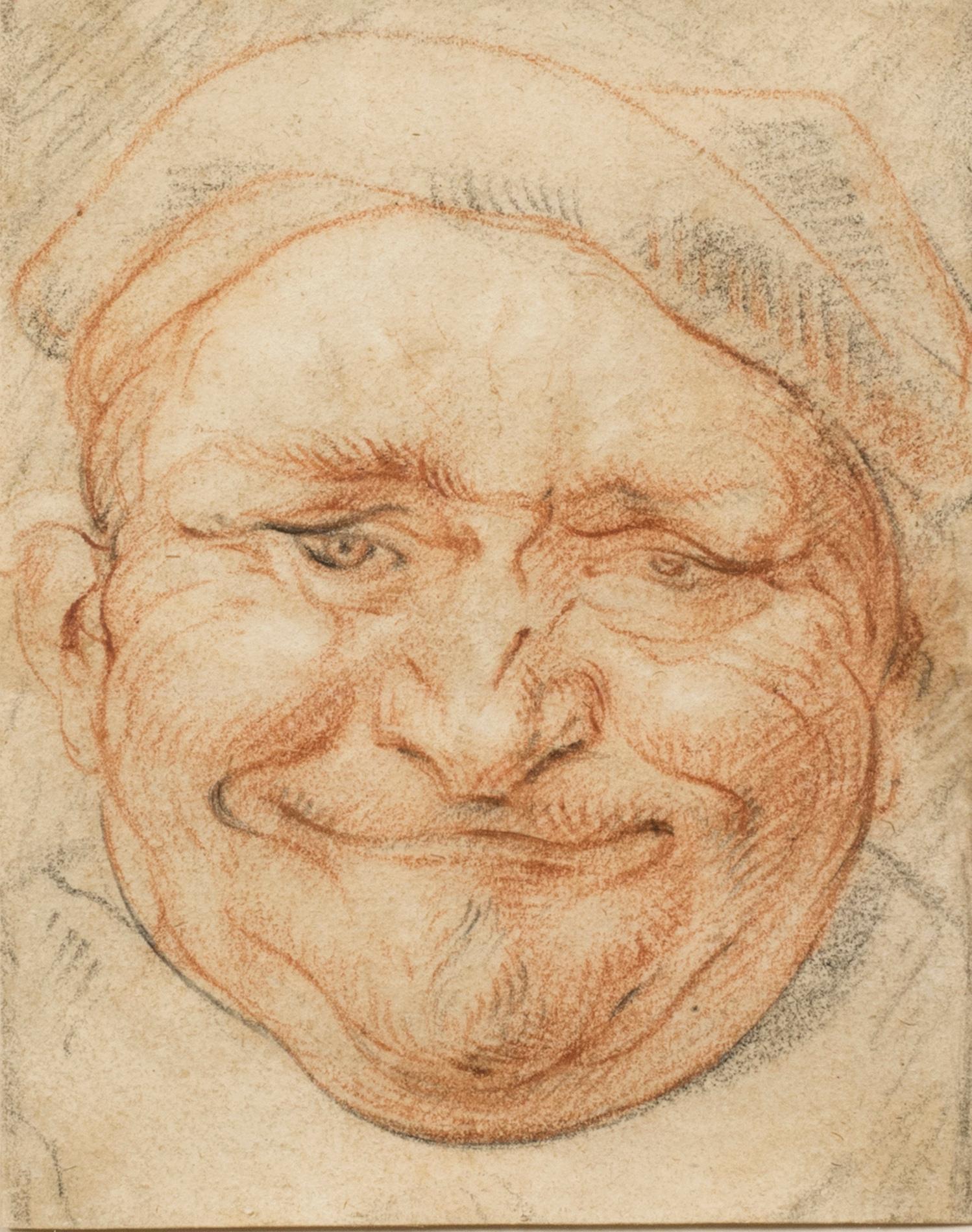 Head of a Cheerful Man Wearing a Cap
