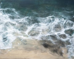 Rebentacao 8, ocean seascape, abstract realism encaustic on panel