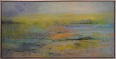 Tears of Color 17, atmospheric encaustic painting in rich subtle tones