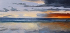 A Passing Brilliance, contemporary realism seascape, oil on panel, framed