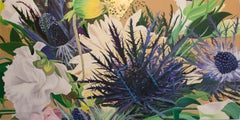 Botanical III, Hollywood Regency realistic botanical with gold leaf