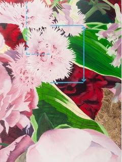 Botanical I, realistic botanical's with gold leaf, mixed media on panel