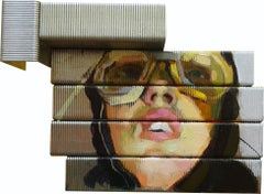 """The Pilot"", Oil on Staples, Cuban Impressionism, Danco Robert Duportai Garcia"