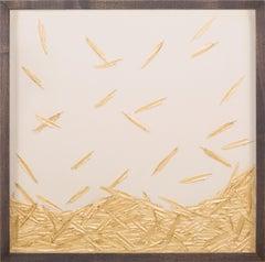 Golden Feathers, Gold Leaf, Specimen, Handmade