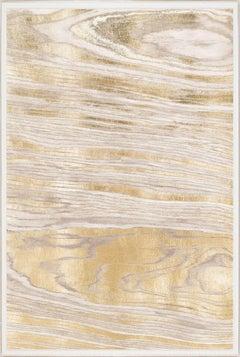 Gold Wood Grain 1, Gold Leaf, Framed