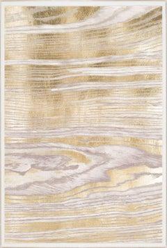 Gold Wood Grain 2, Gold Leaf, Framed
