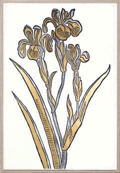 Historical Botanical 1, Gold Leaf, Framed