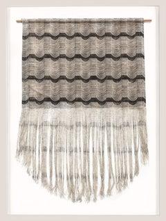 Medium Hanging Tapestry, Screen Printed, Deconstructed, framed