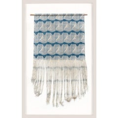 Small Hanging Tapestry, Screen Printed, Deconstructed, framed