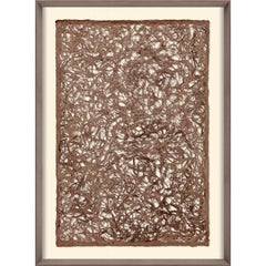 Amate Papers no. 2, handmade paper, framed