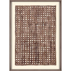 Amate Papers no. 3, handmade paper, framed
