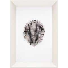 Victoria Mounted Feathers, small, No. 8, framed