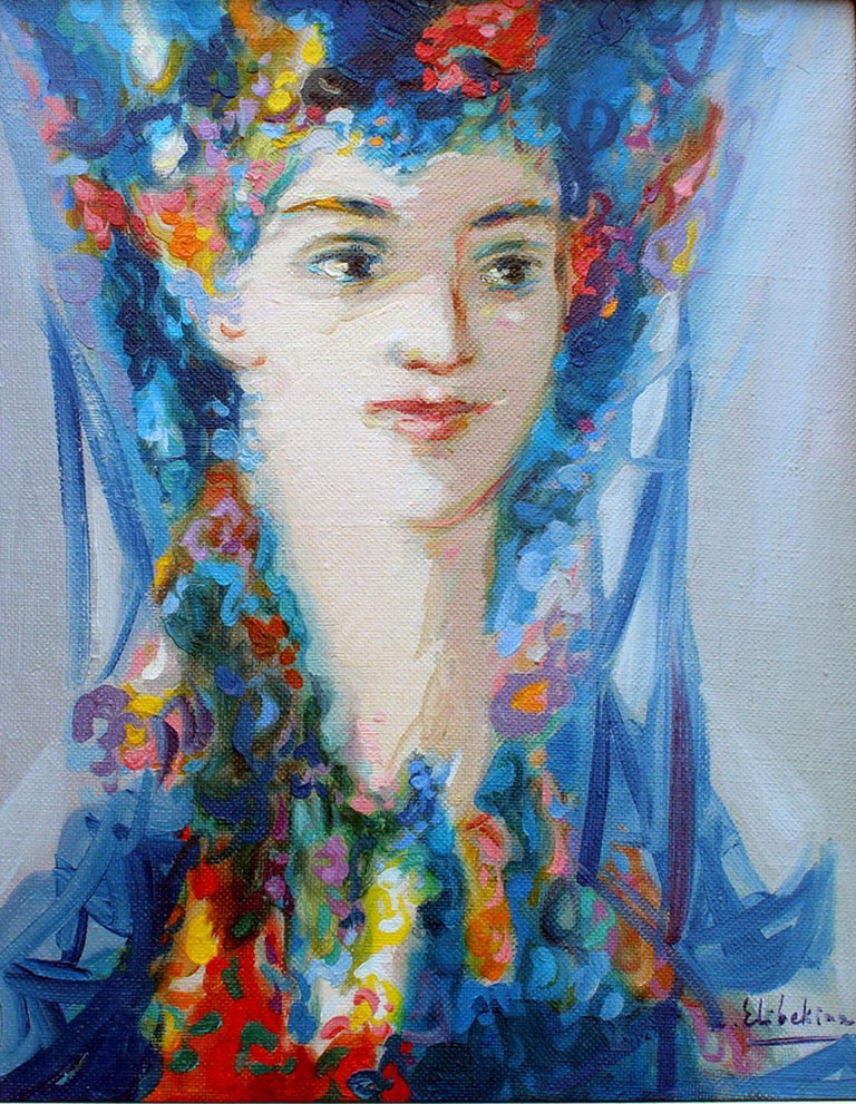 "Robert Elibekyan Portrait Painting - Maral, 20""x16"", oil on canvas"