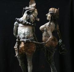 Dancers, bronze\