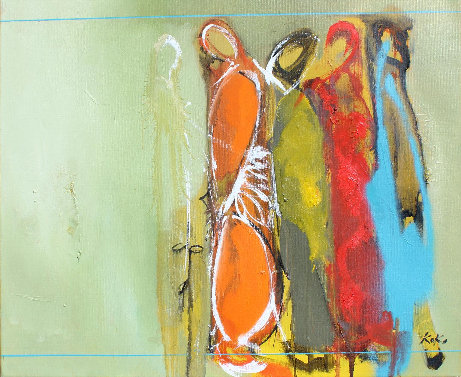 Identity, 20x24 in., oil on canvas. Original  modern abstract expressionist.