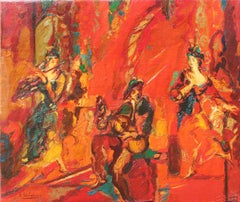 Robert Elibekian, Concerts, 25.5x19.5 in. Original oil on canvas
