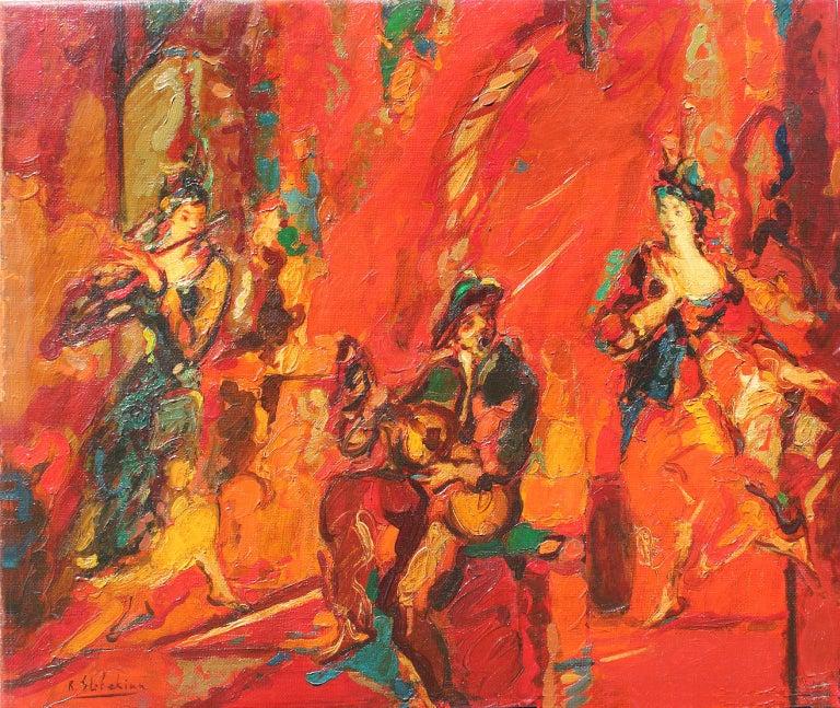 Robert Elibekyan Figurative Painting - Robert Elibekian, Concerts, 25.5x19.5 in. Original oil on canvas