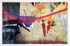 Exclamation, 36x24 in. mixed media on wood panel