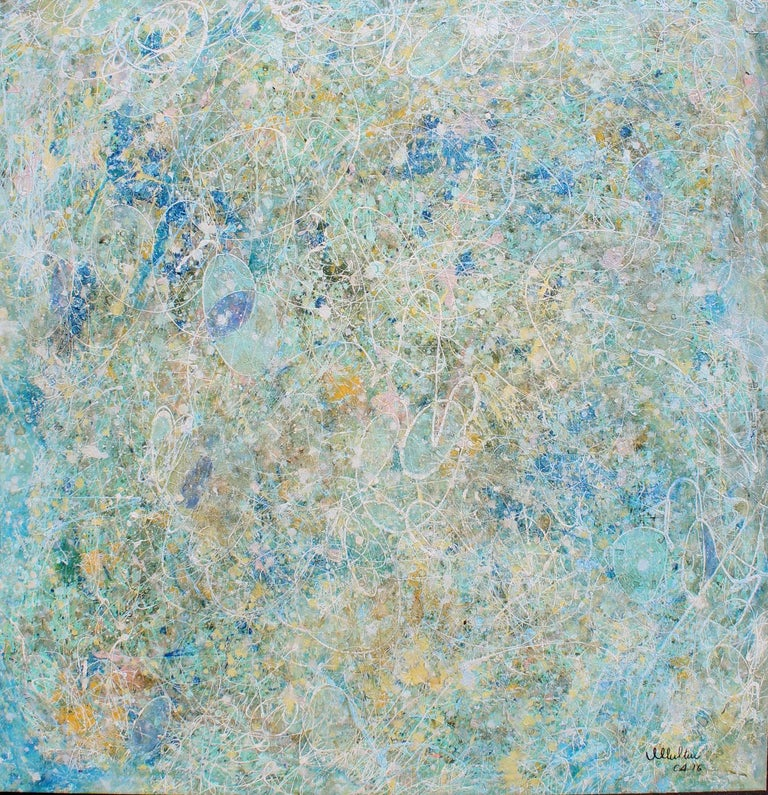 """""""Stars are born"""" by Olavo Multini, signed lower right. This is a big oil painting can be displayed any room .  Artist Statement:  A strong brushstroke here, and a contrasting color there is the result of inner experiences and observations"""