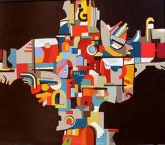 Community, Janet Hagopian, 57x48 in., oil on canvas.
