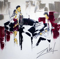 Musique and Sangria, 30x30 in.
