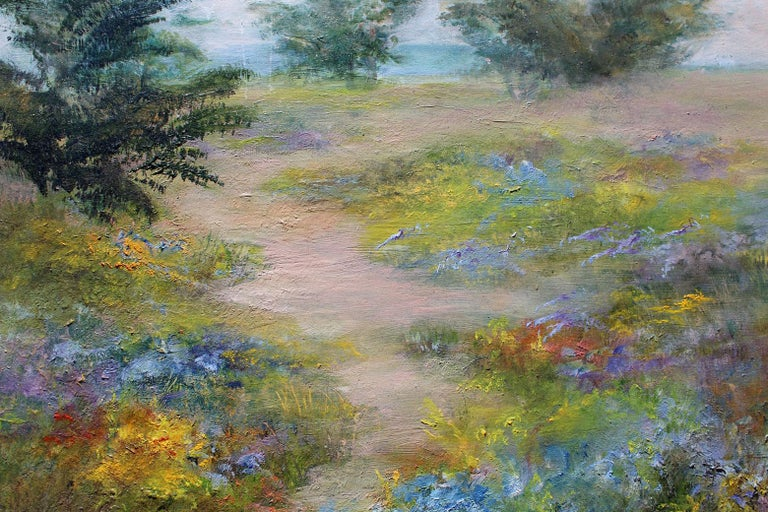 Helga Ohannesian Landscape Painting - Scenic California coast, oil on board