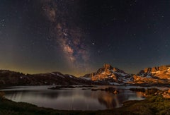 Moon rise and the Milky Way