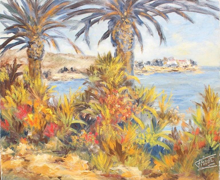 Félix Tisot Landscape Painting - Palm Beach