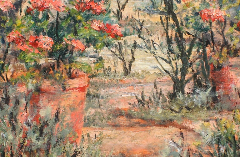 Botanical Garden - Painting by Félix Tisot