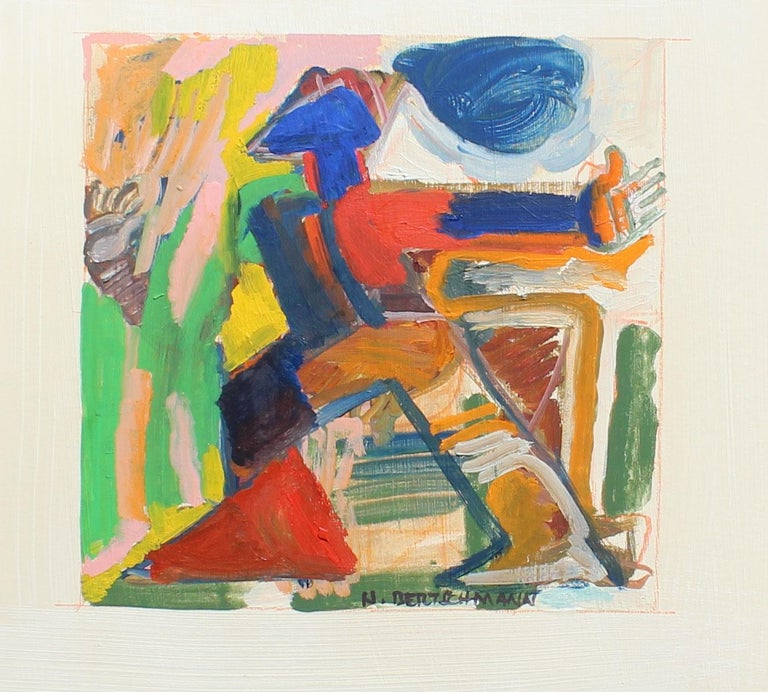 Harry Bertschmann Figurative Painting -  Untitled, Abstract Figure, 1971