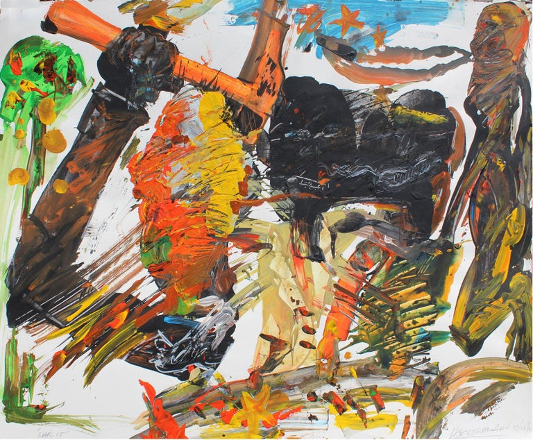 Harry Bertschmann Abstract Painting -  Nail It, 1990 (Peck Slip)