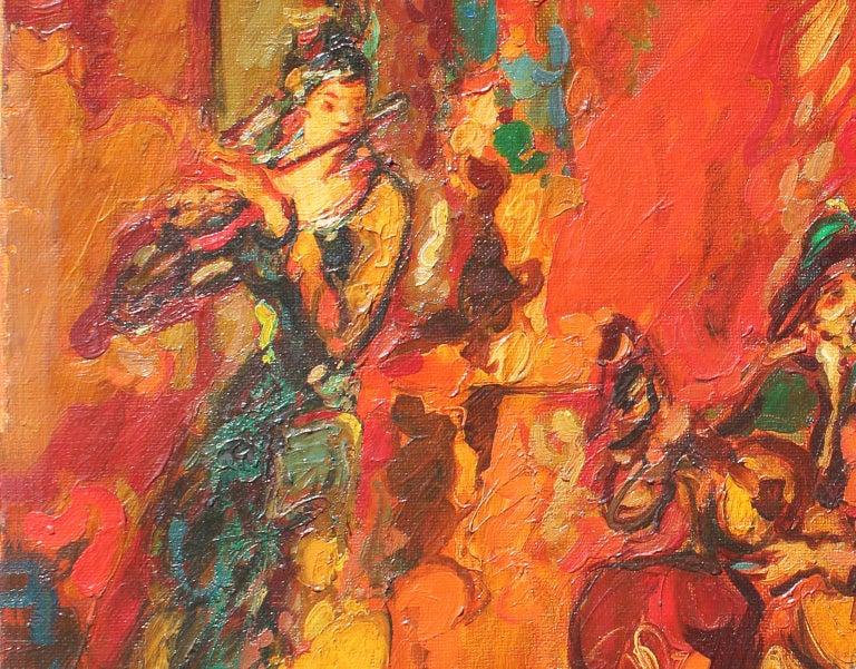 Robert Elibekian, Concerts, 25.5x19.5 in. Original oil on canvas  - Painting by Robert Elibekyan