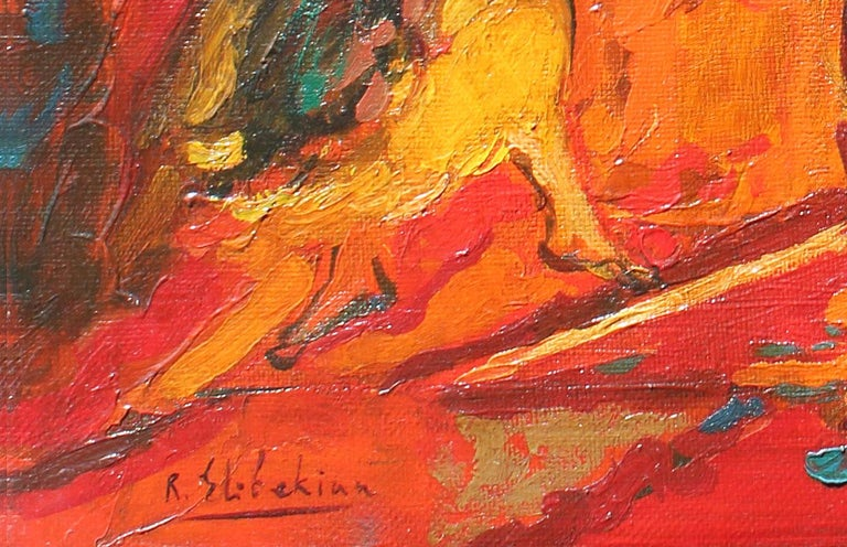 Robert Elibekian, Concerts, 25.5x19.5 in. Original oil on canvas  - Impressionist Painting by Robert Elibekyan