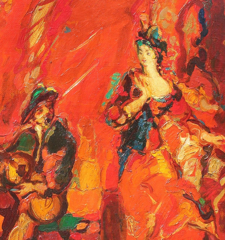 Energy and life come together on this oil painting done by Robert Elibekian. Concerts, 25.5x19.5 in.   Robert Elibekyan was born in Tbilisi, Georgia. In 1960 he moved to Armenia and settled in Yerevan. 1960-1965 he studied in the Yerevan Arts and